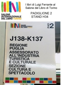 i libri di Luigi Ferrante sono presenti al Salone del libro di Torino 2017 , al padiglione 2 stand H34.